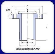 long weld neck flange example