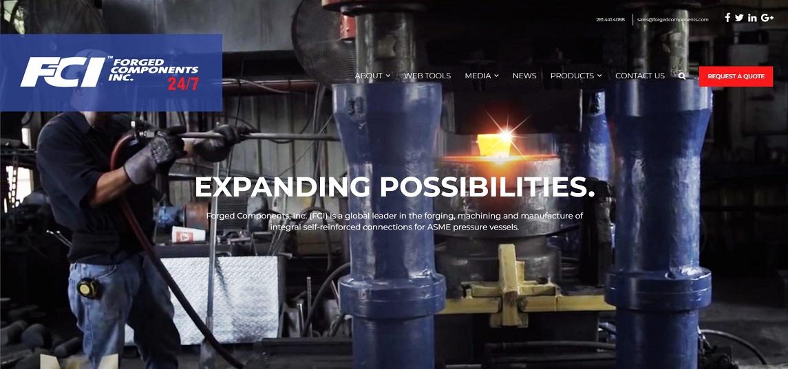 API blind flange manufacturer FCI webpage