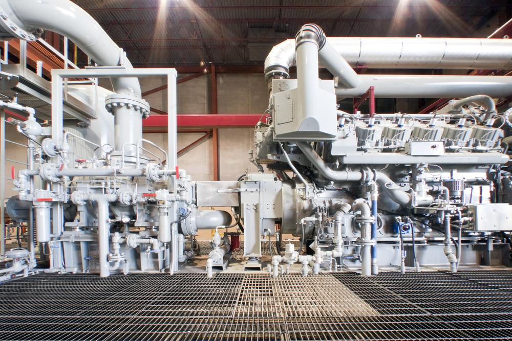 natural gas compressor station that uses ASME flanges