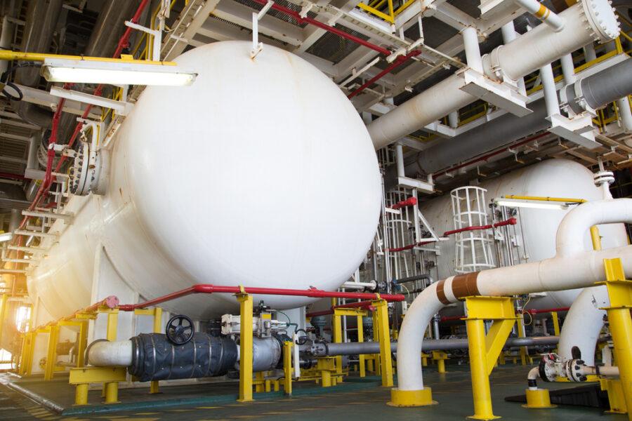 Coalescer, a custom pressure vessel connection