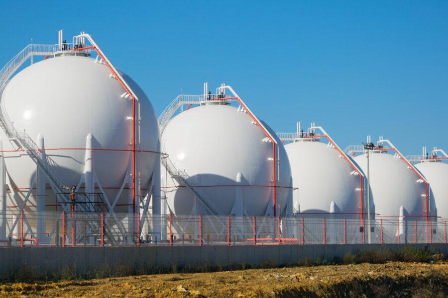 Spherical storage tanks using ASME pressure vessel connections