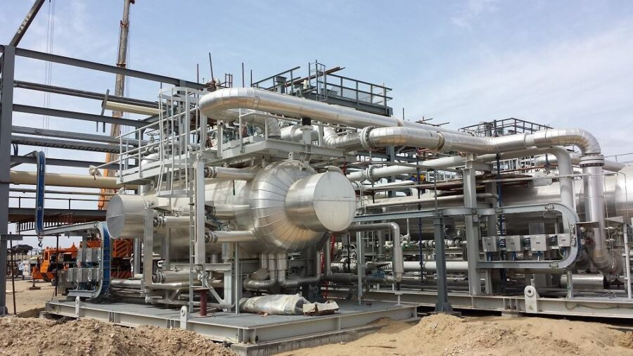 Oil and gas sand separation equipment pressure vessel